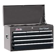 "Craftsman 26"" Wide 6-Drawer Ball-Bearing Top Chest - Platinum/Black at Craftsman.com"