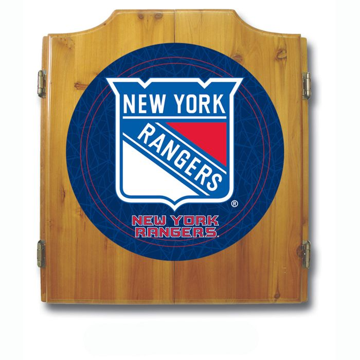 NHL New York Rangers Dart Cabinet including