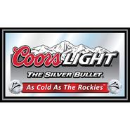 Trademark Coors Light Wood Framed Mirror BIG 15 x 26 inches at Kmart.com