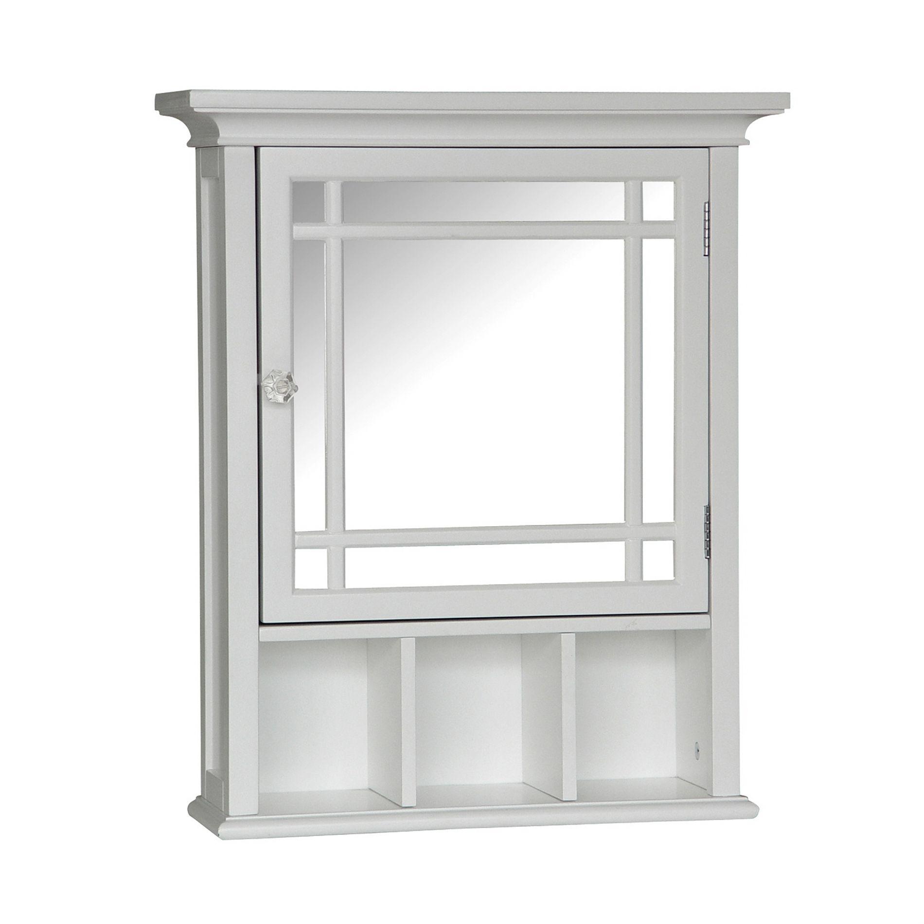 Elegant Home Neal Medicine Cabinet White