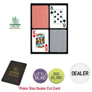 Copag 2 Decks Poker Size PLASTIC Playing Cards & Dealer Kit at Kmart.com