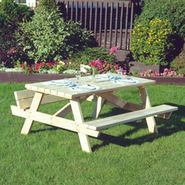 Cedar Looks Square Northern White Cedar Picnic Patio Table at Sears.com