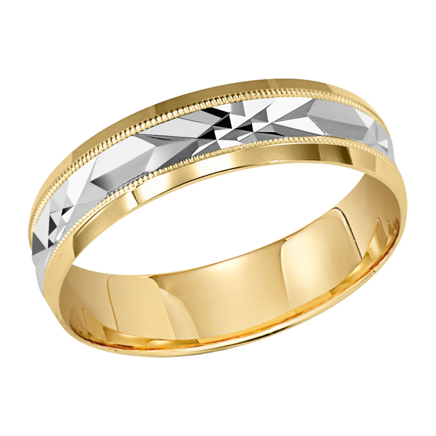 Milgrain Engraved Ladies 10Kt Yg Wed Band