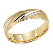 Orange Blossom Slashed Engraved Mens 10Kt Yg Wed Band at Kmart.com