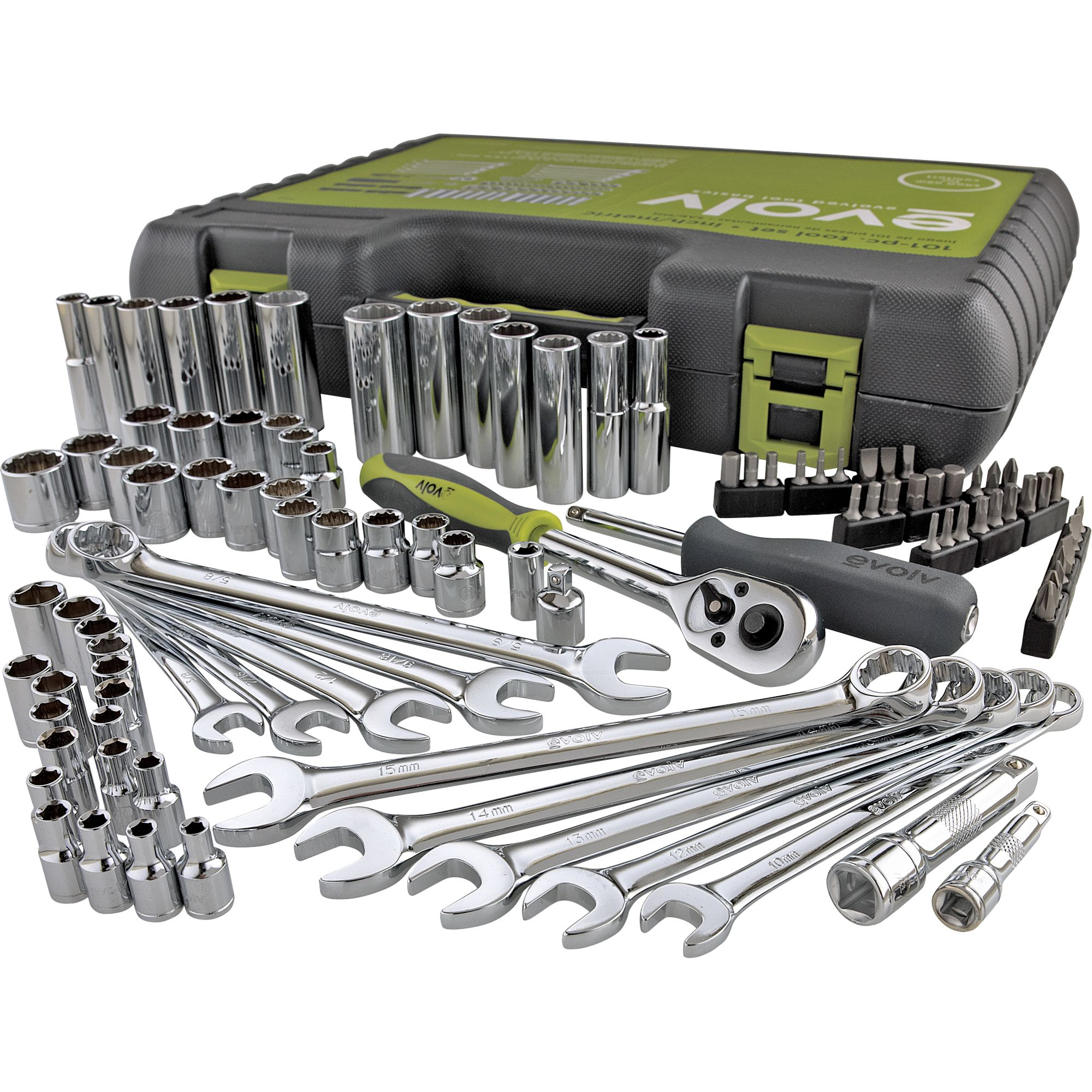 101 pc. Mechanics Tool Set