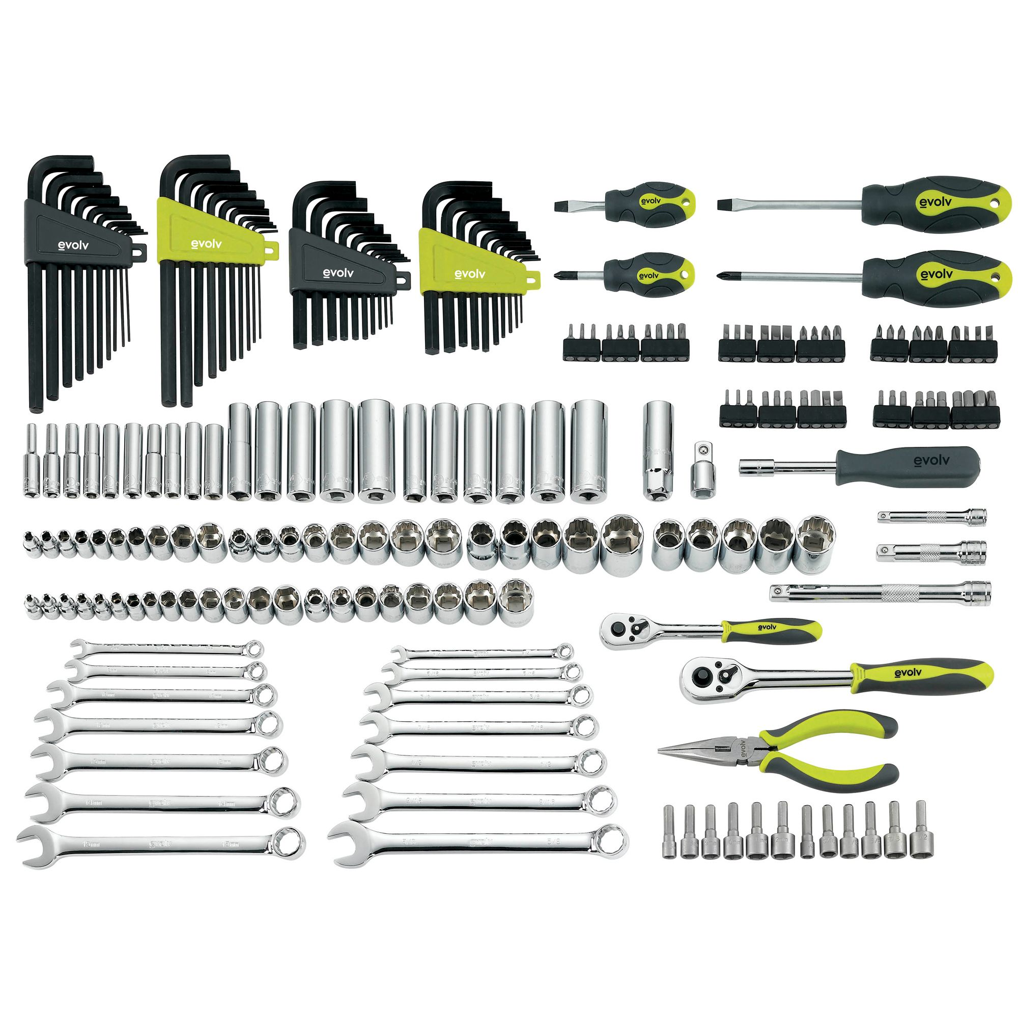 200 pc. Mechanics Tool Set