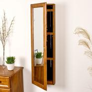 Southern Enterprises Wall-Mount Jewelry Mirror - Oak at Kmart.com