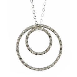 Diamond Fascination 14k White Gold Double Circle Diamond Accent Pendant at Kmart.com