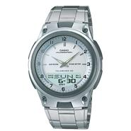Casio Mens Calendar Day/Date Watch with Round White Dial and Silvertone Link Band at Sears.com