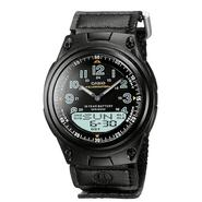 Casio Mens Calendar Day/Date Watch with Round Black Dial and Black Fabric Band at Sears.com