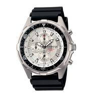 Casio Mens Calendar Date Chronograph Watch w/Round White Dial & Silvertone Link Band at Sears.com