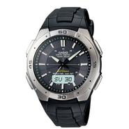 Casio Mens Calendar Day/Date Atomic Watch w/Round Black Dial & Black Resin Band at Sears.com