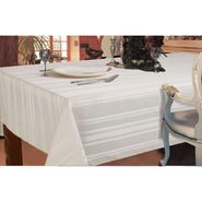 Essential Home Stain Resistant Satin Stripe White Tablecloth 60in X 120in at Sears.com