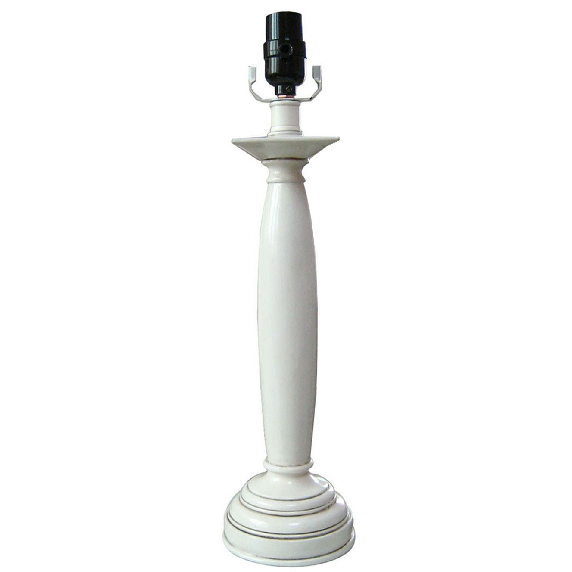 Essential Home  White Candlestick Lamp