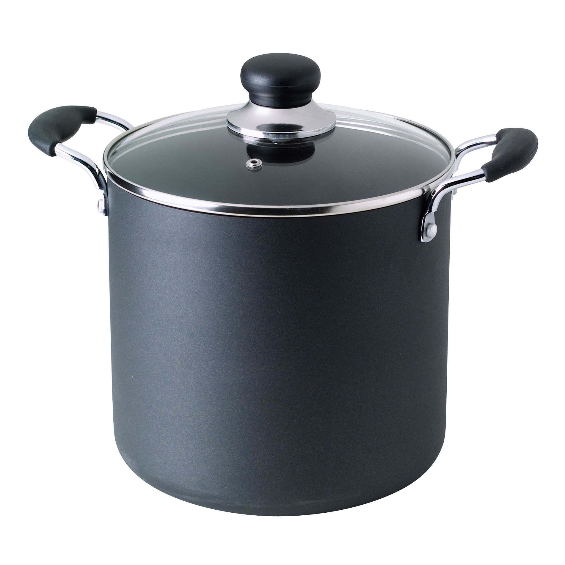 T-fal  Non Stick Stock Pot Black 8 Quart