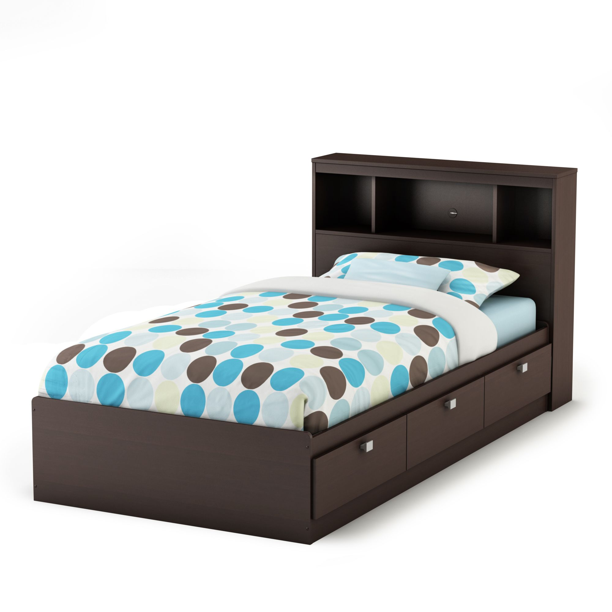 Manero Twin Bookcase Headboard - Chocolate                                                                                       at mygofer.com
