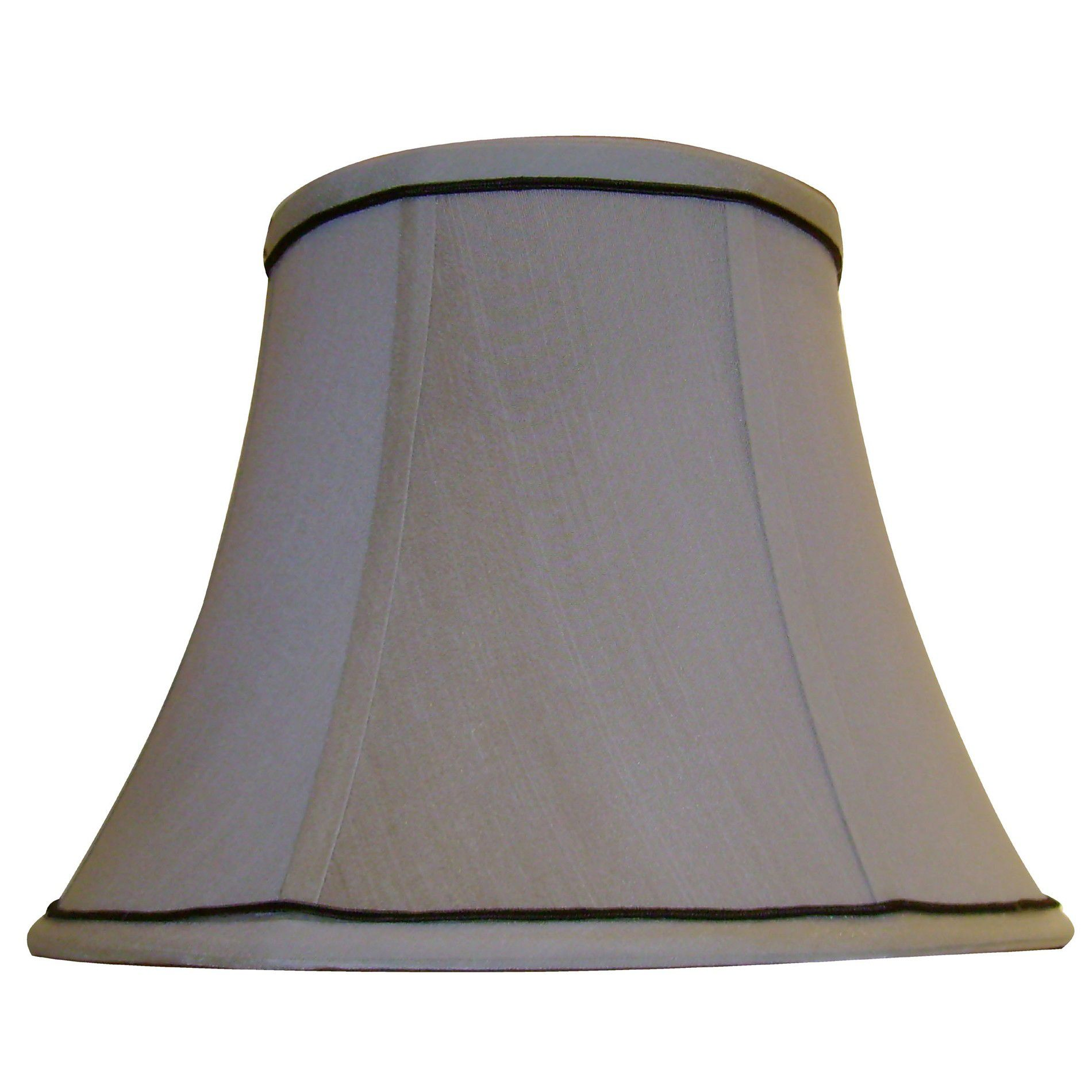 Lamp Shade Beige Trimmed Stretch Bell