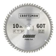 Craftsman 10 in. X 60 Tooth Finish Cut Carbide Circular Saw Blade at Craftsman.com