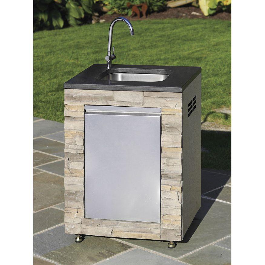 Kenmore elite island modular 5 sink faucet outdoor for Modular outdoor grill islands
