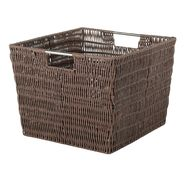 Essential Home Rattique Java Basket Small 12.6in x 9.8in x 7.9in at Kmart.com