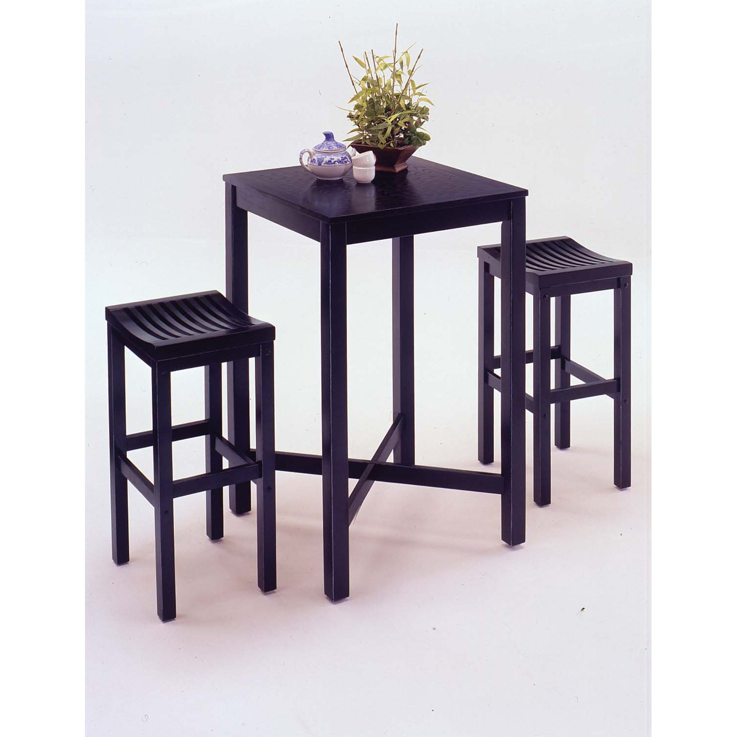 3-Piece Bar Set - Black Finish