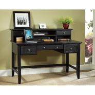 "Home Styles Bedford 54""W Executive Computer Desk & Hutch - Ebony at Kmart.com"