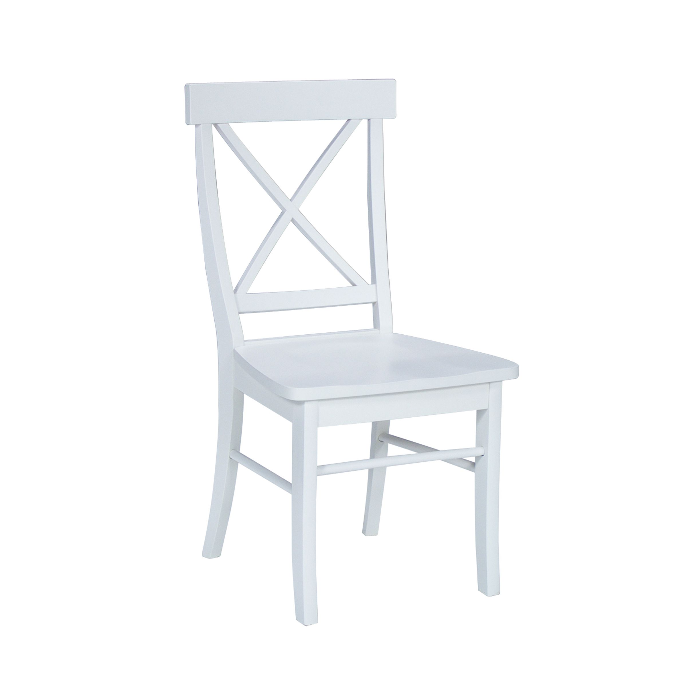 Incroyable International Concepts Pair Of X Back Chair With Solid Wood Seat. Black ·  Linen White