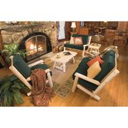 "Cedar Looks 36""H Log Sofa - White Cedar with Khaki Cushions at Sears.com"