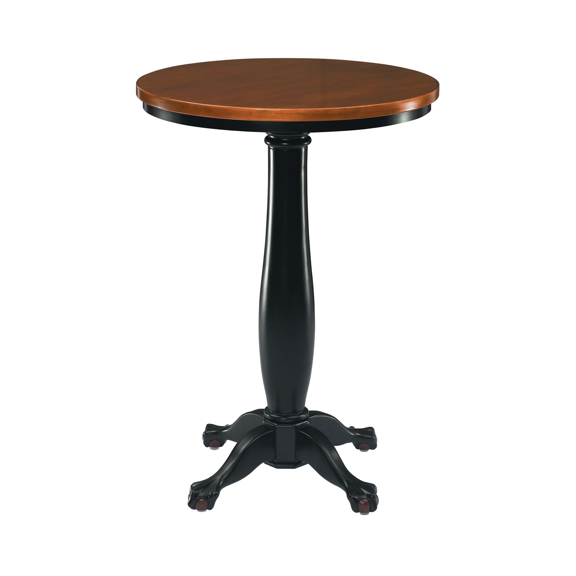Colonial Ball and Claw Pub Table - Two Tone                                                                                      at mygofer.com