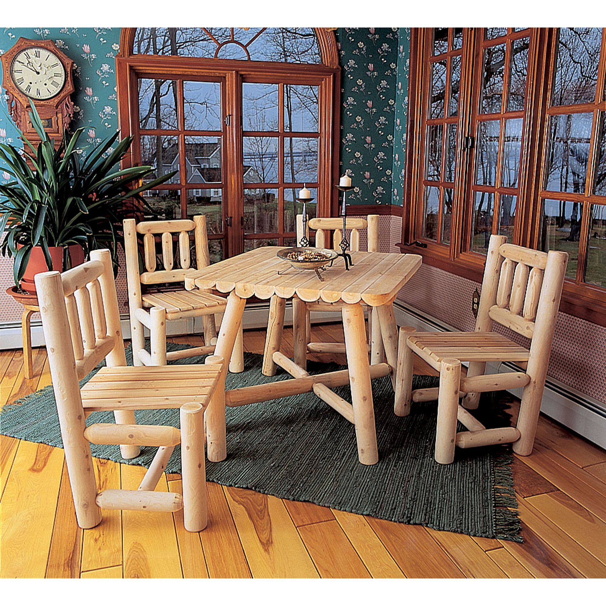 Log-Style Dining Chair - Cedar