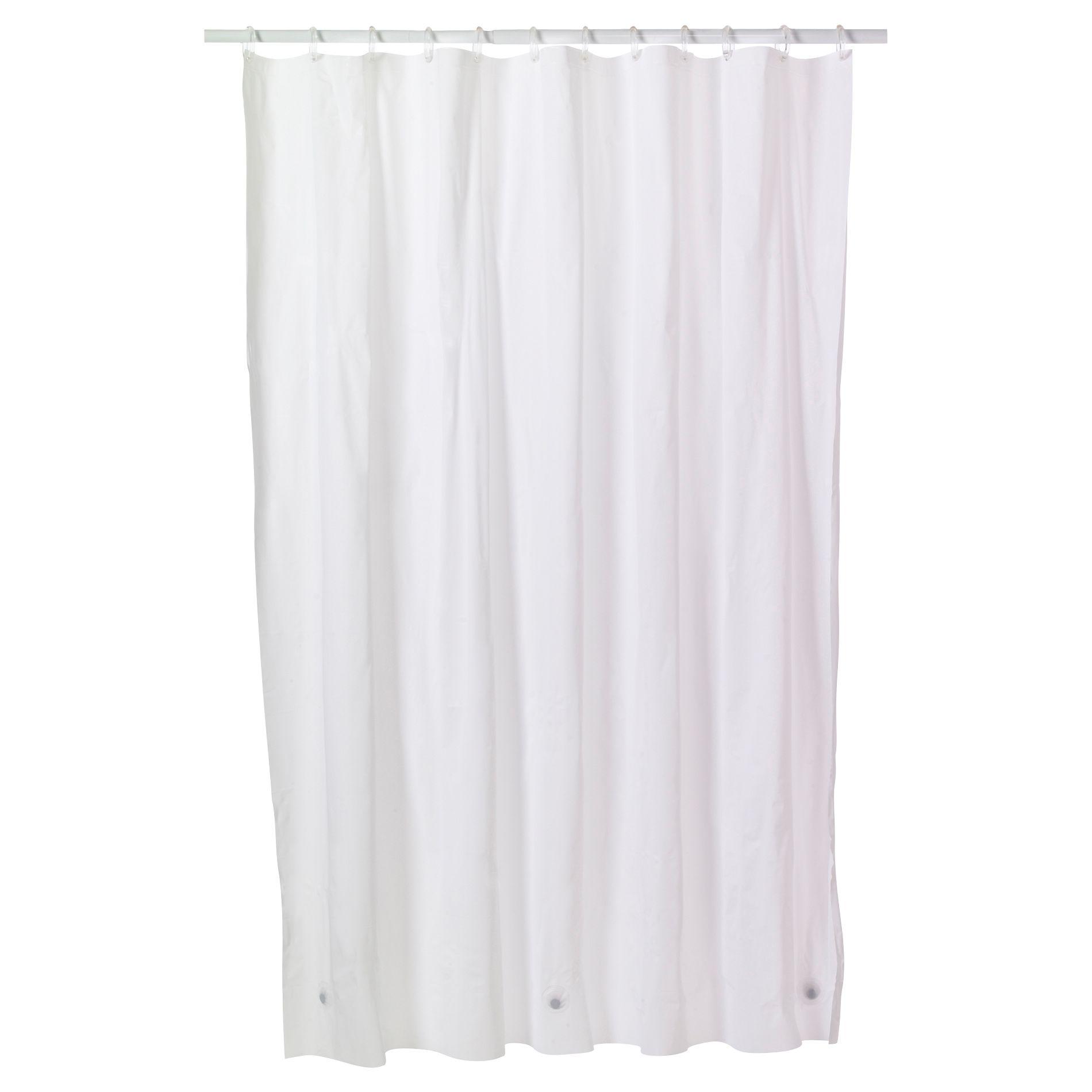 Essential Home Shower Curtain Liner 3 Gauge Vinyl PEVA