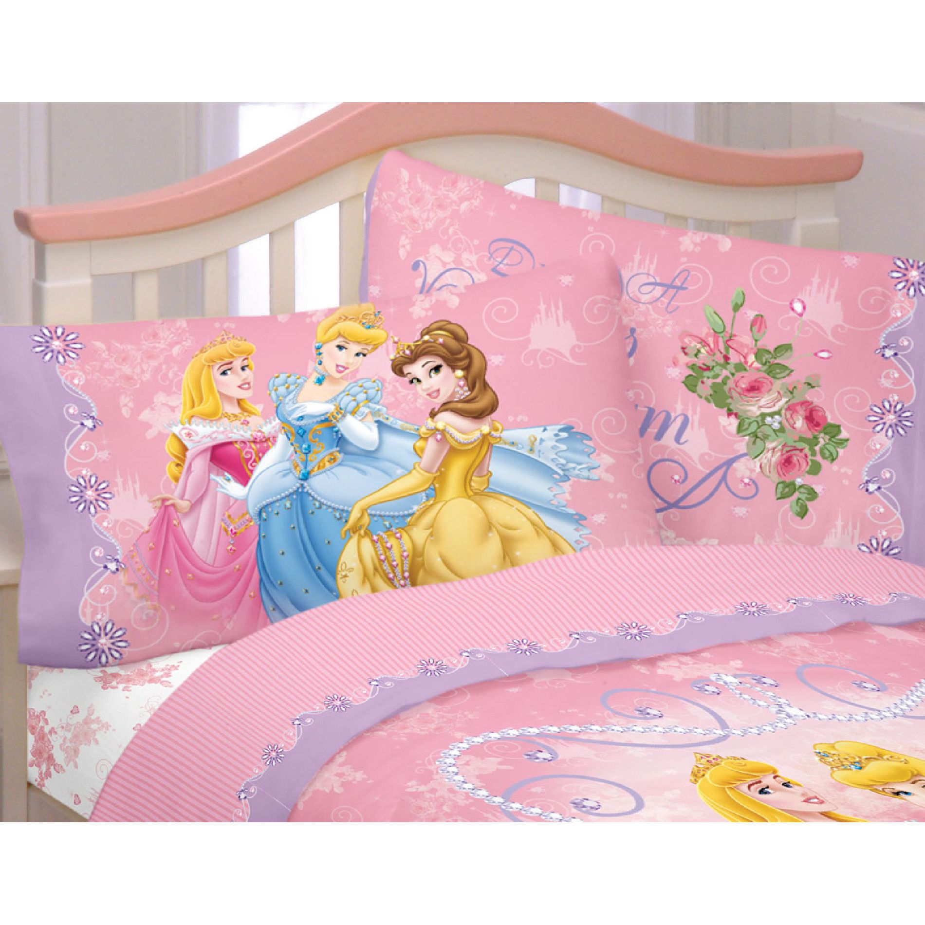 Disney Loving Hearts Princess Sheet Set
