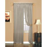 Essential Home Luxury Crushed Faux Silk Window Panel Silver at Kmart.com