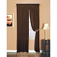 Essential Home Luxury Crushed Faux Silk Window Panel Chocolate at Kmart.com