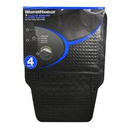 WeatherHandler Black 4pc Basic Rubber Floor Mat Set at Sears.com