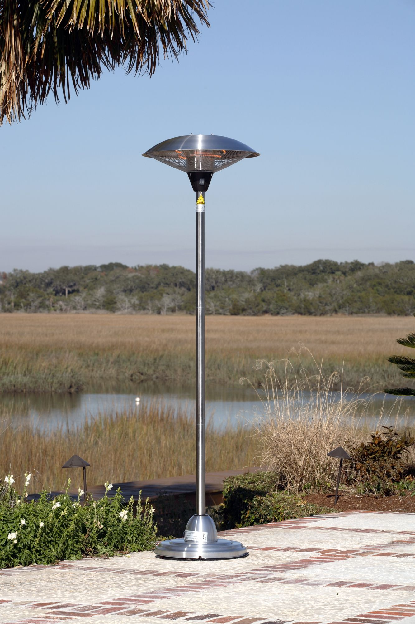 Fire Sense Floor Standing Round Stainless Steel Infrared Patio Heater