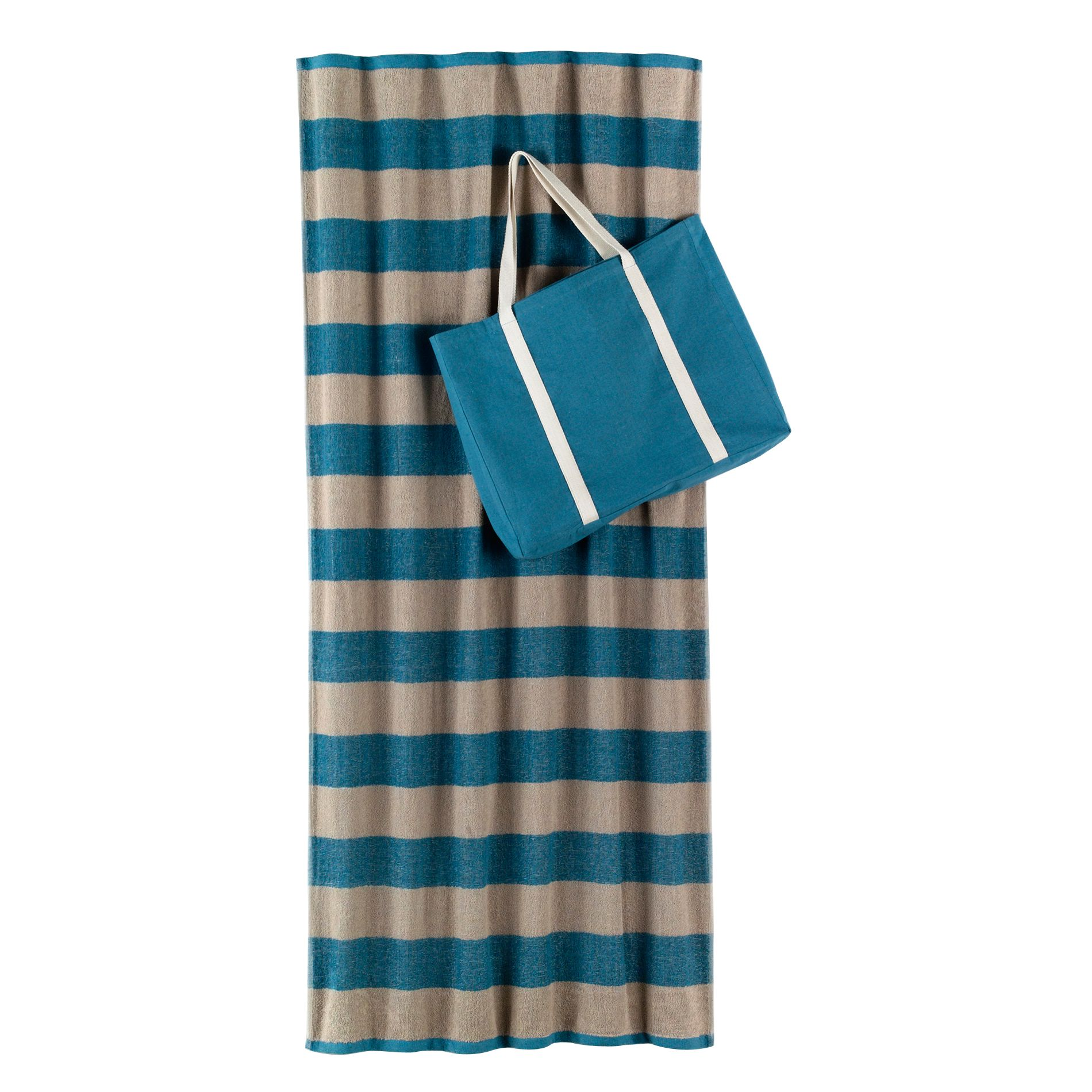 Beach Towel And Tote Set in Teal