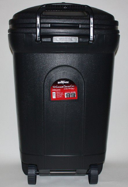 50 Gallon Gray Trash Can