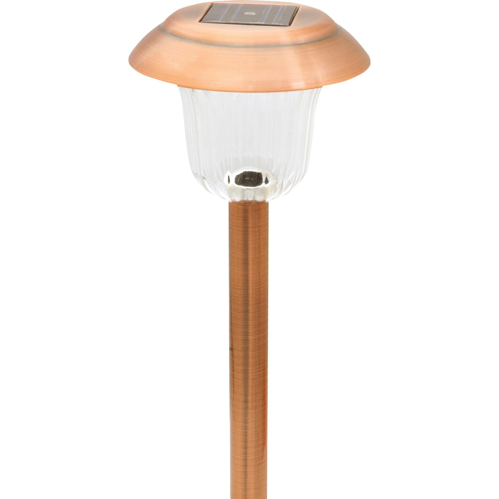 Image of Moonrays Mason Metal Path Light Copper 4 pk.-91391