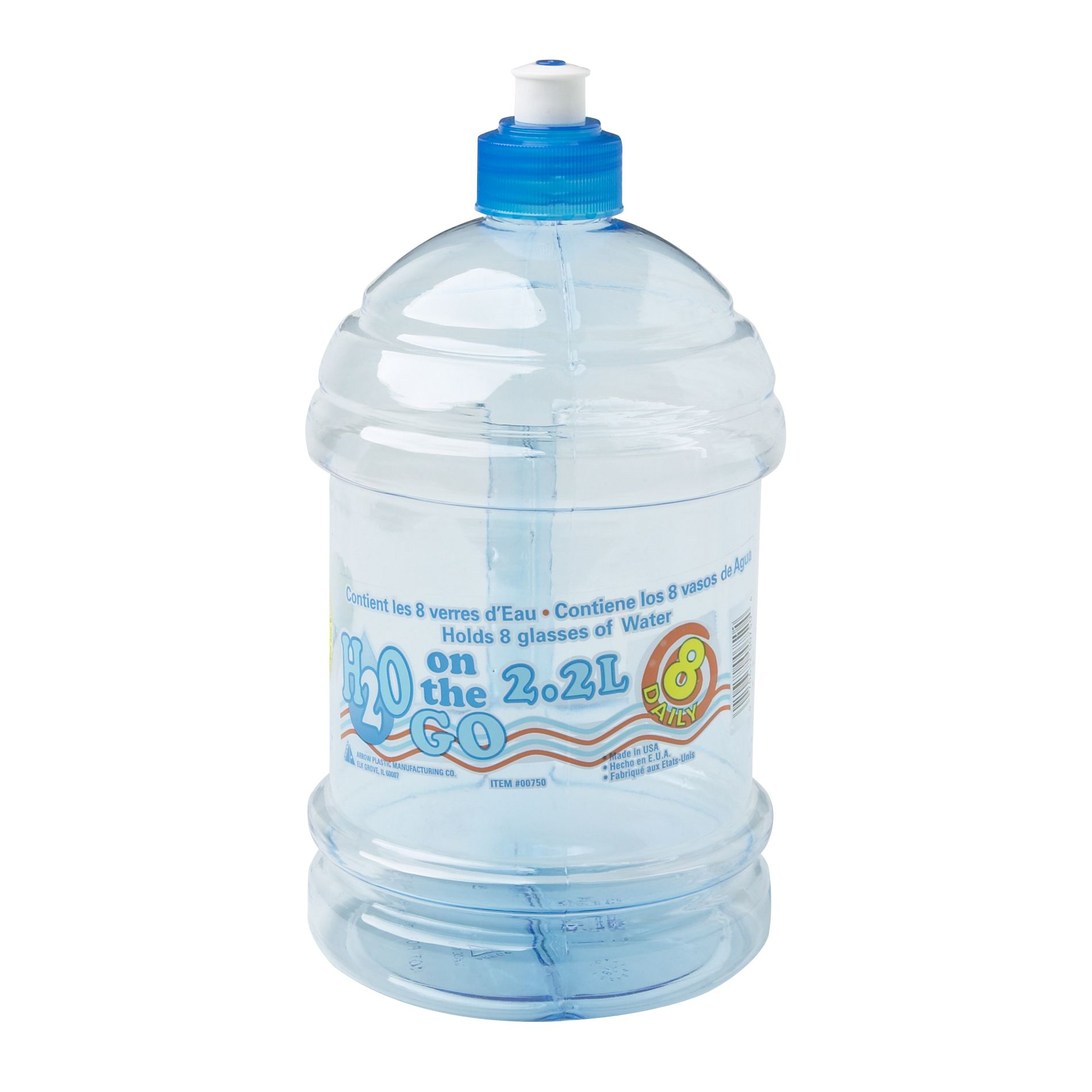 H2O on the Go 2.2 Liter Beverage Bottle