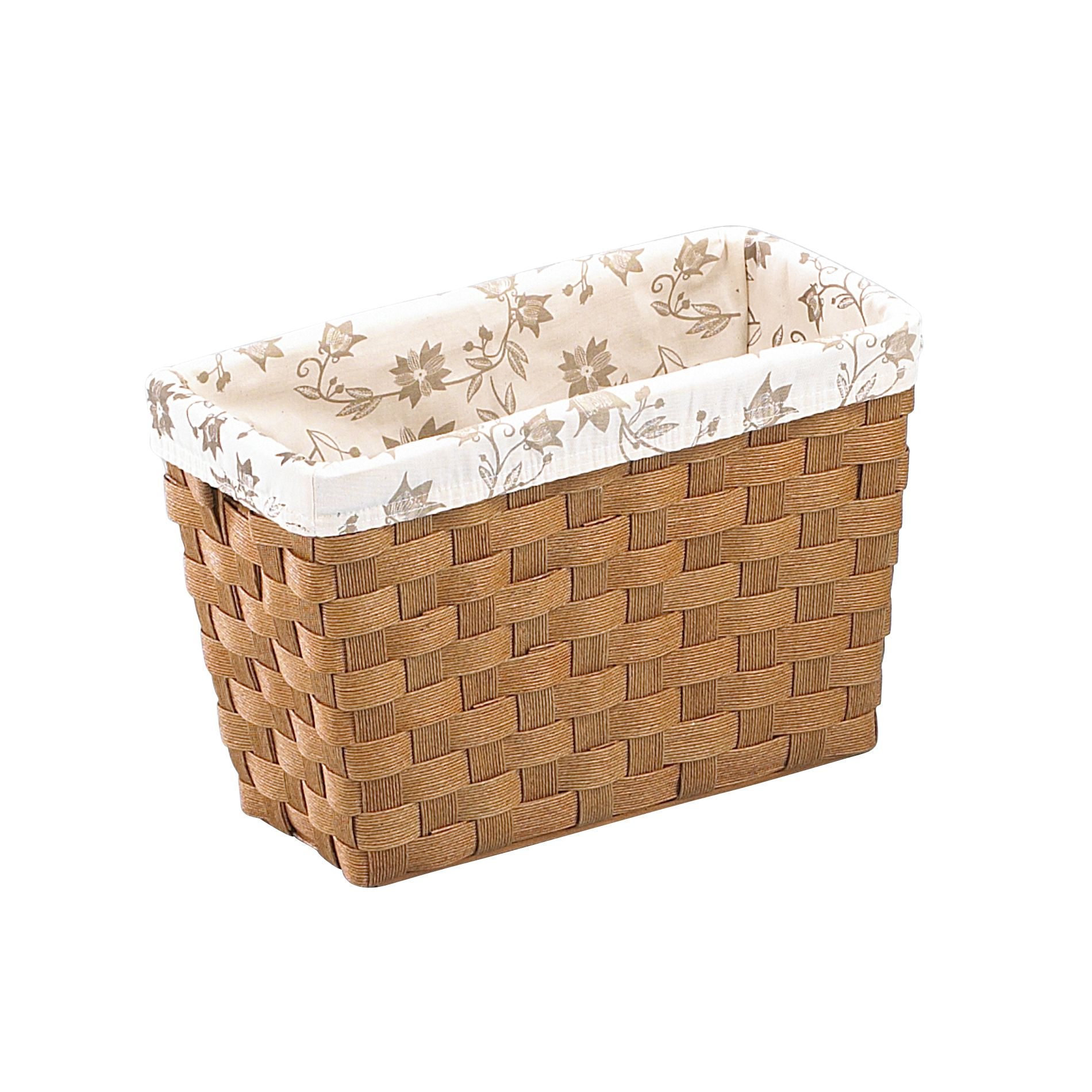 Essential Home Magazine Paper Cord Bin with Printed Liner