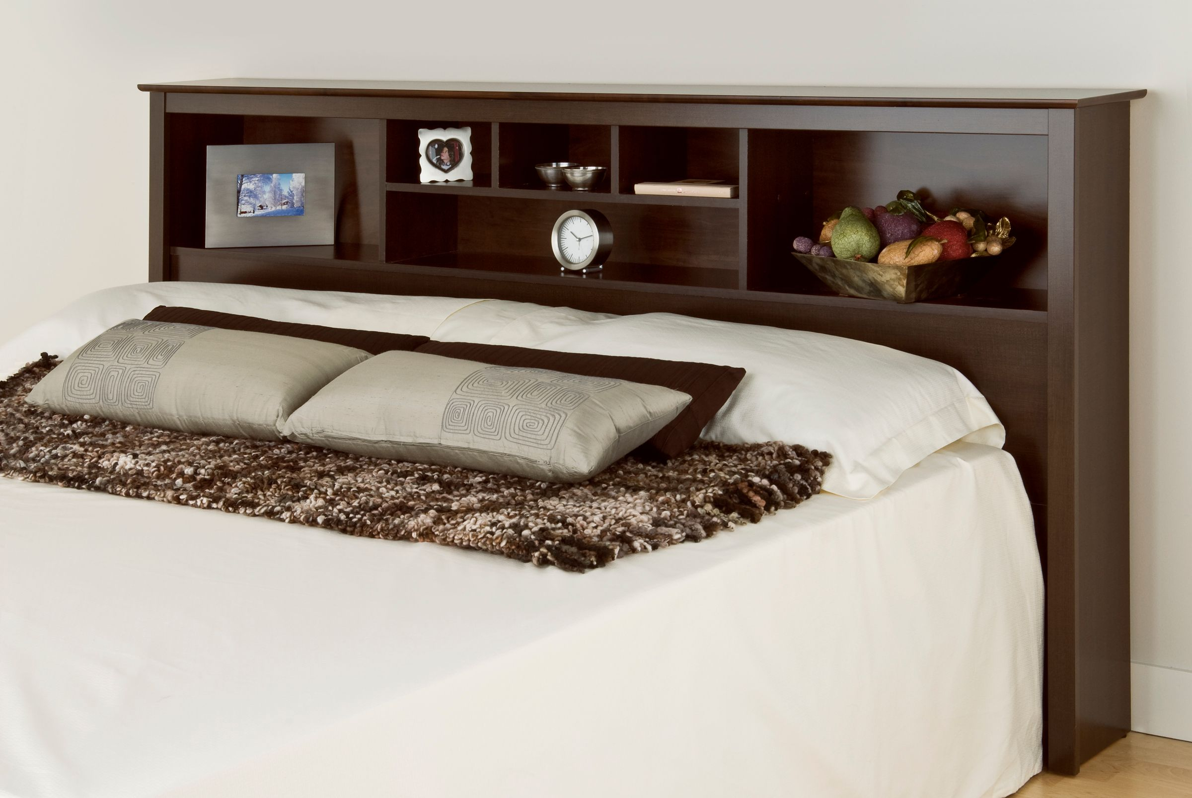 Prepac Manhattan Espresso King Storage Headboard