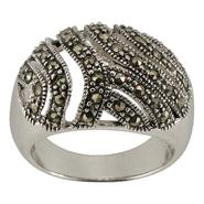 Marcasite Dome Ring, Size 8. Sterling Silver at Kmart.com