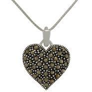 Sterling Silver and Marcasite Heart Pendant at Kmart.com