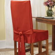 Sure Fit Cotton Duck Claret Shorty Dining Room Chair Slipcover at Sears.com