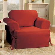 Sure Fit Cotton Duck Claret T-Cushion Chair Slipcover at Kmart.com