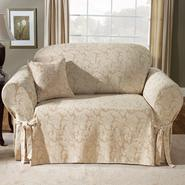 Sure Fit Scroll Champagne Loveseat Slipcover at Sears.com
