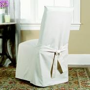 Sure Fit Cotton Duck Natural Full Dining Room Chair Slipcover at Sears.com