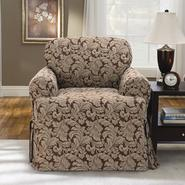 Sure Fit Scroll Brown T-Cushion Chair Slipcover at Kmart.com