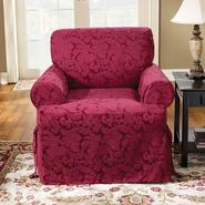 Sure Fit Scroll Burgundy T-Cushion Chair Slipcover at Kmart.com